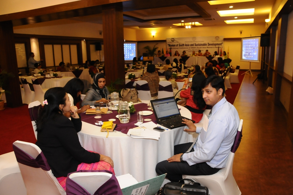 SWAN Interface, SWAN, South Asia Women's Networks, Sunil Kumar Binjla During SWAN Conference in Nepal, SWAN Delegates During Conference